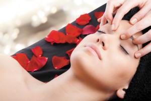 relax massage facial woman